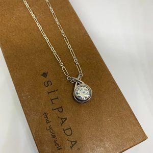"""Silpada Sterling Silver Rare CZ Pendant 17"""" Chain"""